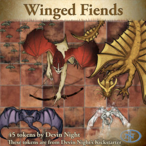 Devin Night's Token Pack #39: Winged Fiends