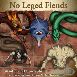Devin Night's Token Pack #40: No-Legged Fiends