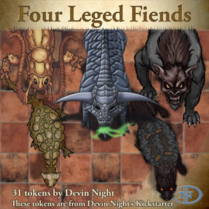 Devin Night's Token Pack #42: Four-Legged Fiends