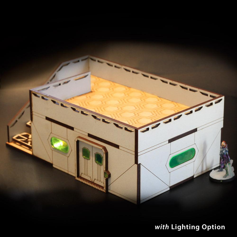 laser cut tabletop terrain building