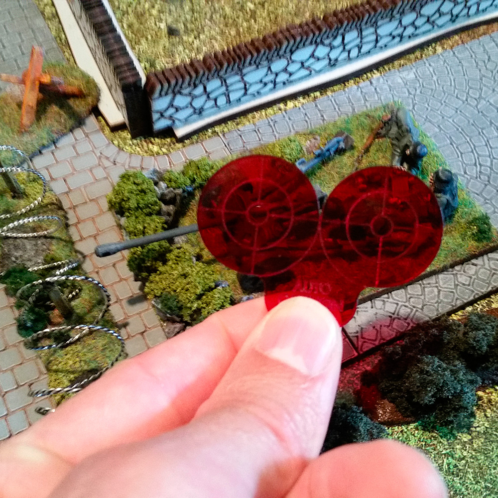 auto cannon template for bolt action warolrd game