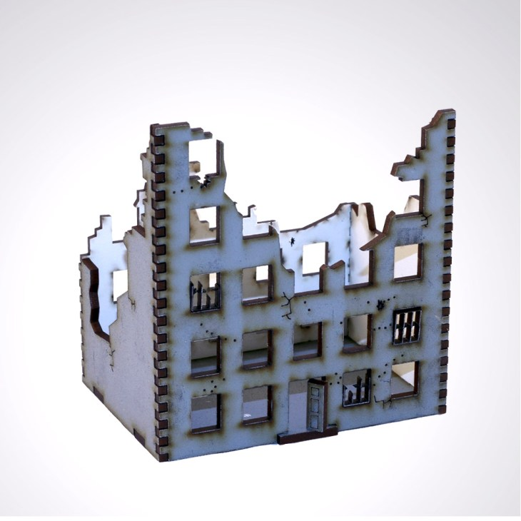 Stalingrad 15mm city Ruins model building
