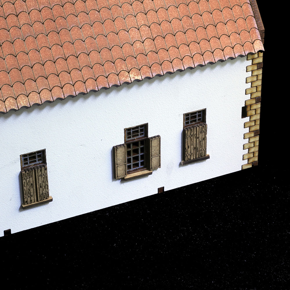 window details of laser cut la belle alliance model