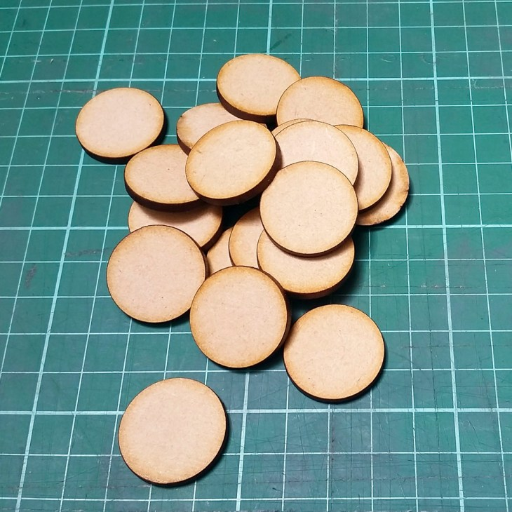 25mm round mdf bases for wargaming