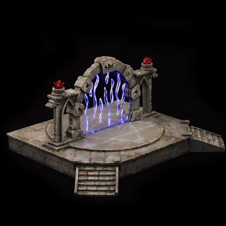 fantasy portal terrain for 28mm tabletop wargames