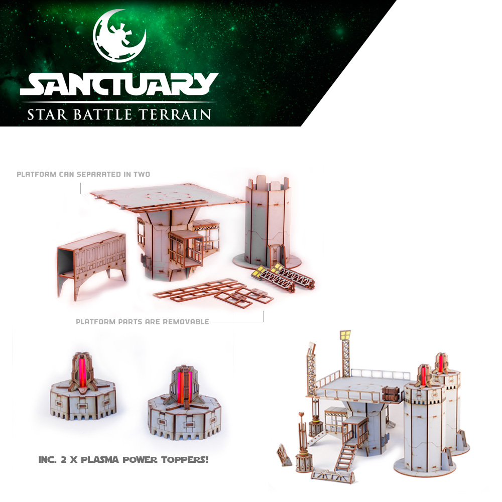 miniature wargame terrain that can be pulled apart