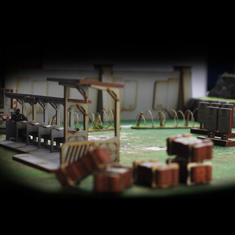 shooting range wargame terrain model piece