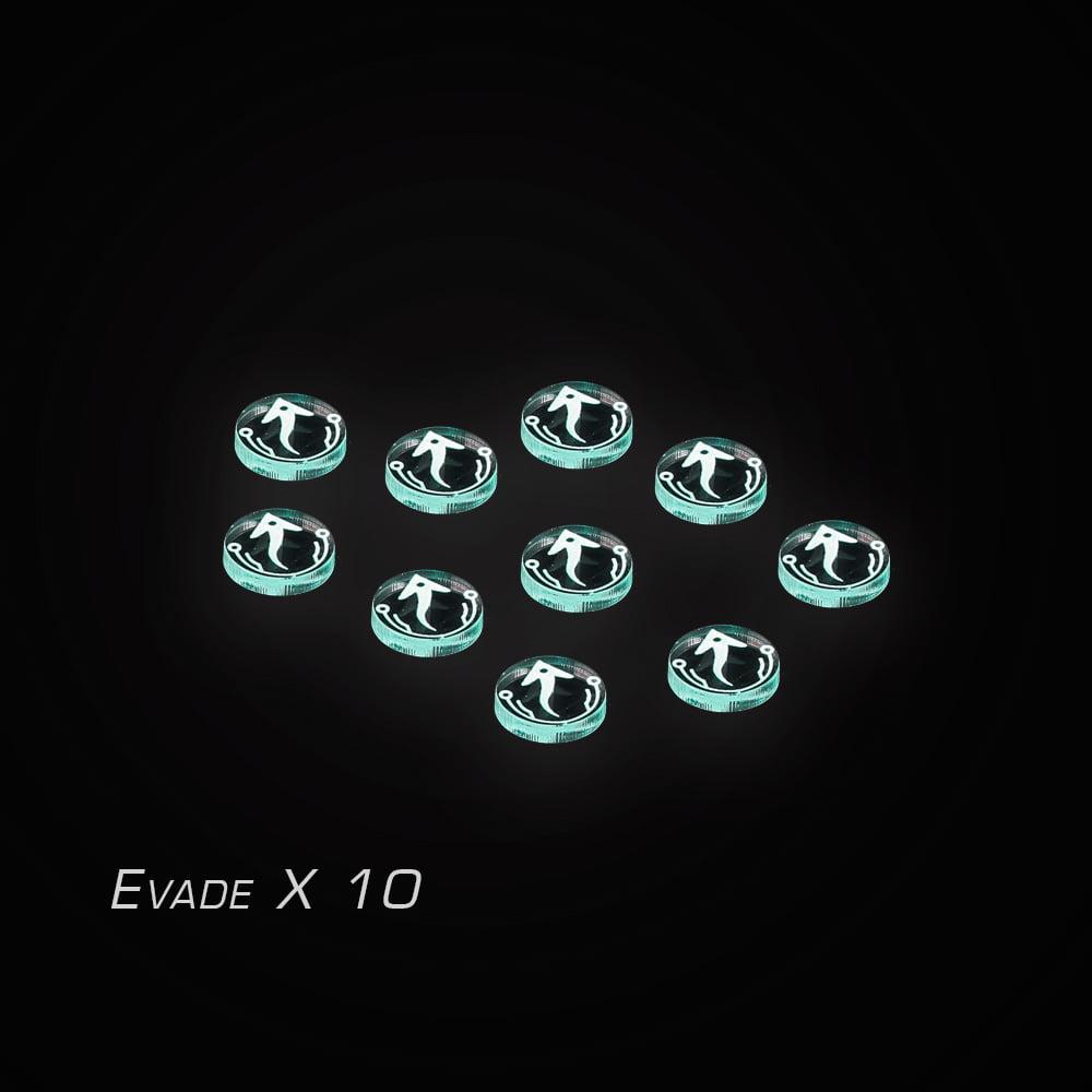 xwing acrylic token set