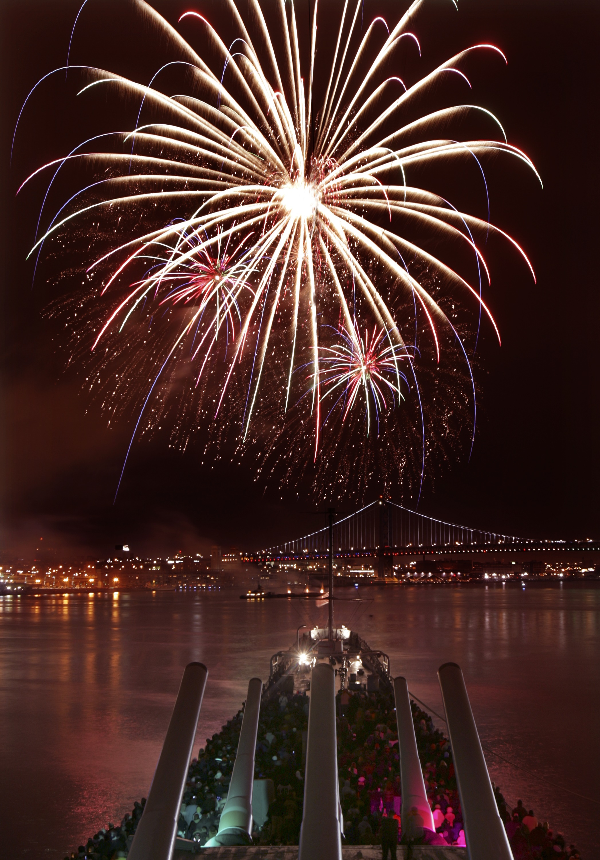 Watch New Year s Eve Fireworks from the Battleship    Battleship New     Watch New Year s Eve Fireworks from the Battleship    Battleship New Jersey