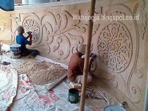 pekerjaan ukir batu alam