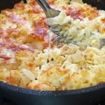 פסטה רדיאטורי ברוטב שמנת מוקרמת עם גבינות