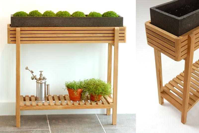 Ellie Outdoor Indoor Plant Stand Low Bau Outdoors