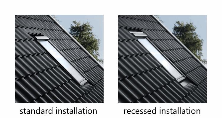 electric roof window velux ggu sound 62 white polyurethane finish