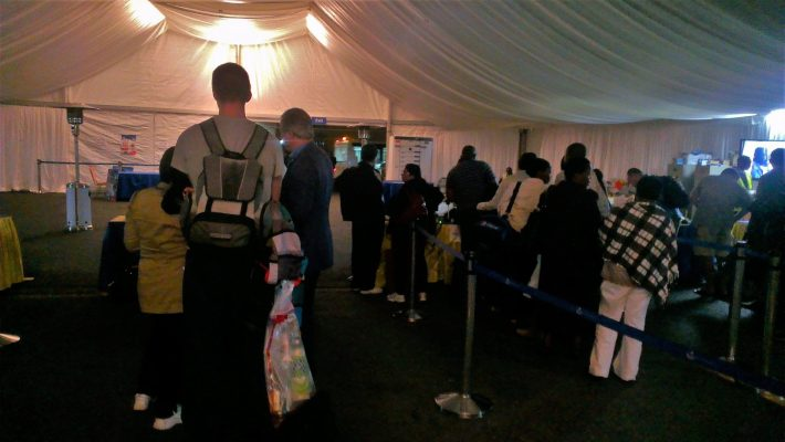 JKIA - makeshift tents after the fire