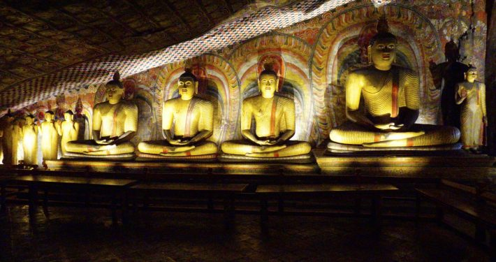 Dambulla Rock Temple Interior 1