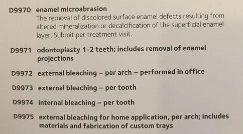 Image of enameloplasty code
