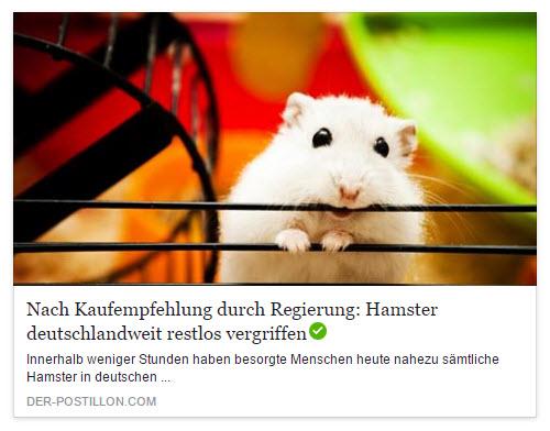 Postillon Hamsterkäufe