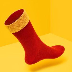 Bauhäusler regular Socken Rot