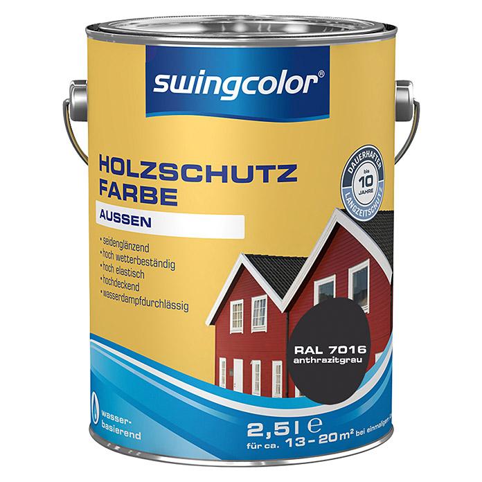 swingcolor peinture de protection pour le bois gris anthracite