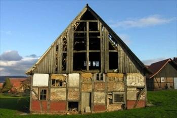 Fachwerkgebäude in Schermbeck vor der Sanierung