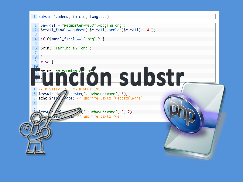 PHP subst() Extraer texto