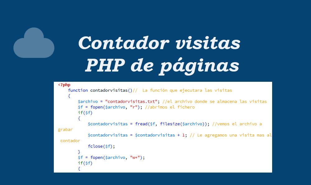 Contador visitas PHP