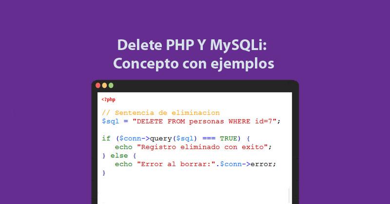 Descargar delete PHP Y MySQLi