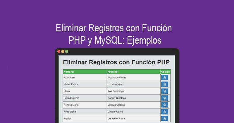 Descargar eliminar Registros con PHP y MySQL