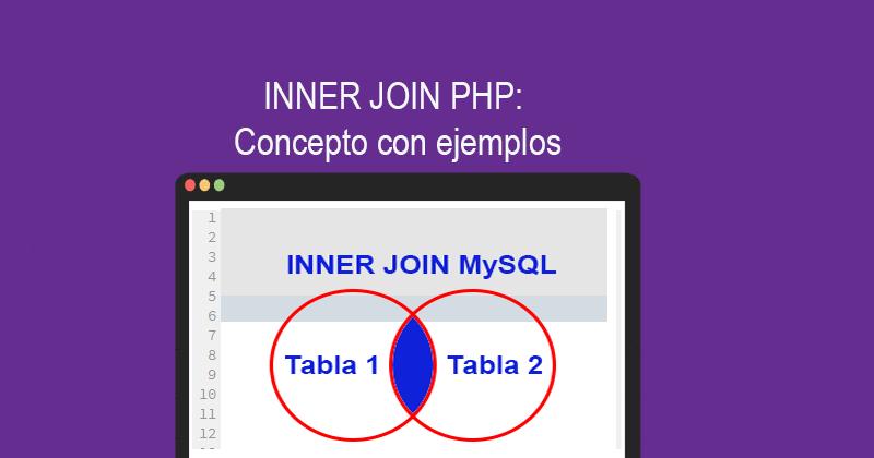 INNER JOIN PHP MySQL Concepto con ejemplos