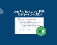 Leer Archivos txt con PHP Ejemplos completos