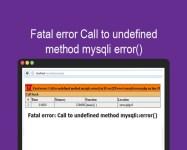 Fatal error Call to undefinedmethod mysqli error
