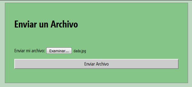 Subir archivo al servidor con php