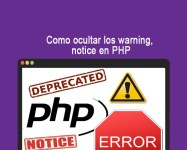 Como ocultar los warning, notice en PHP