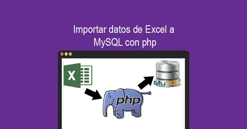 Importar datos de Excel a MySQL con php