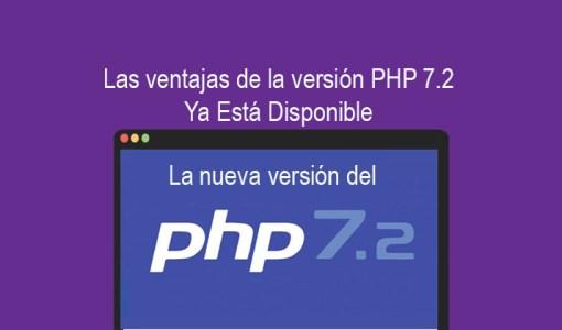 Las ventajas de la versión PHP 7.2