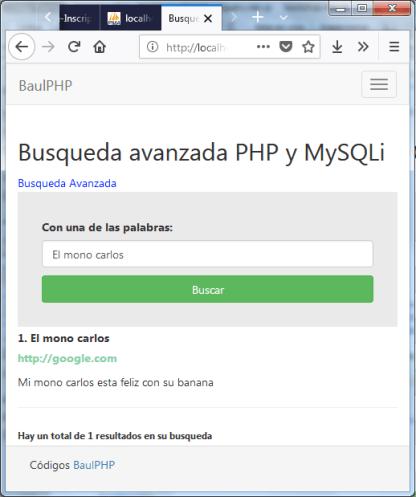 Busqueda avanzada php mysql