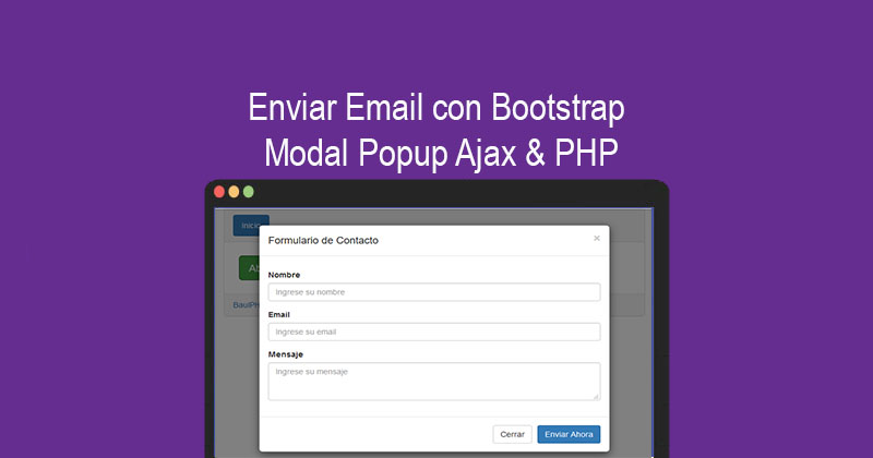 Enviar Email con Bootstrap Modal Popup Ajax & PHP