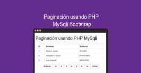 Paginación usando PHP MySqli Bootstrap