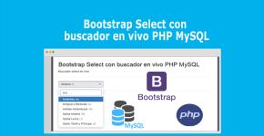 Bootstrap Select con buscador en vivo PHP MySQL