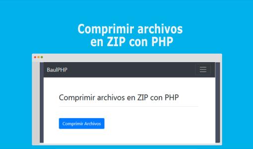 Comprimir archivos en ZIP con PHP