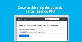 Crear archivo zip despues de cargar usando PHP