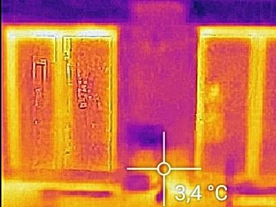 Infrarot Thermo Kurzuntersuchung Beratung vor Kauf Eigentumswohnung Sachverständigenrat Gutachter Wohnungskauf