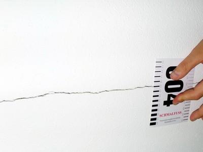 Schaden an der Fassade Risse im Innenputz BAUMÄNGEL Bild Bauschaden-Baumangel Bauschäden, Fassadenschaden