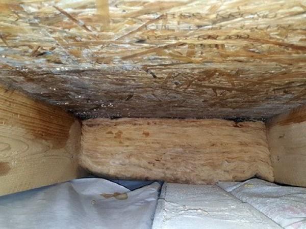 Schäden im Dach, Baumangel Dachbalken verschimmelte & Dachdämmung feucht