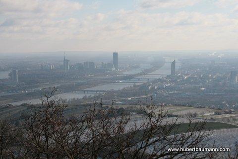 Blick auf Wien und die Donau