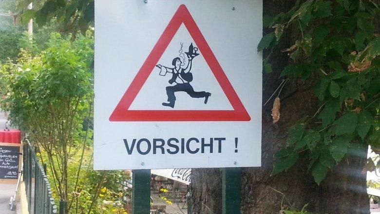 Alte Donau - Vorsicht Kellner