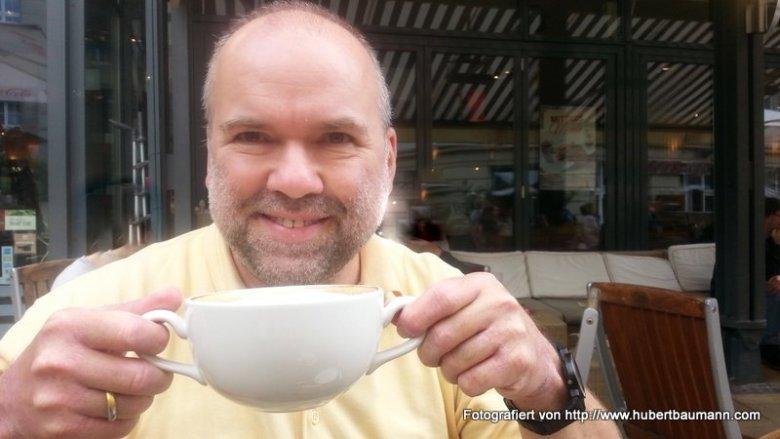 Kaffepause Hubert Baumann