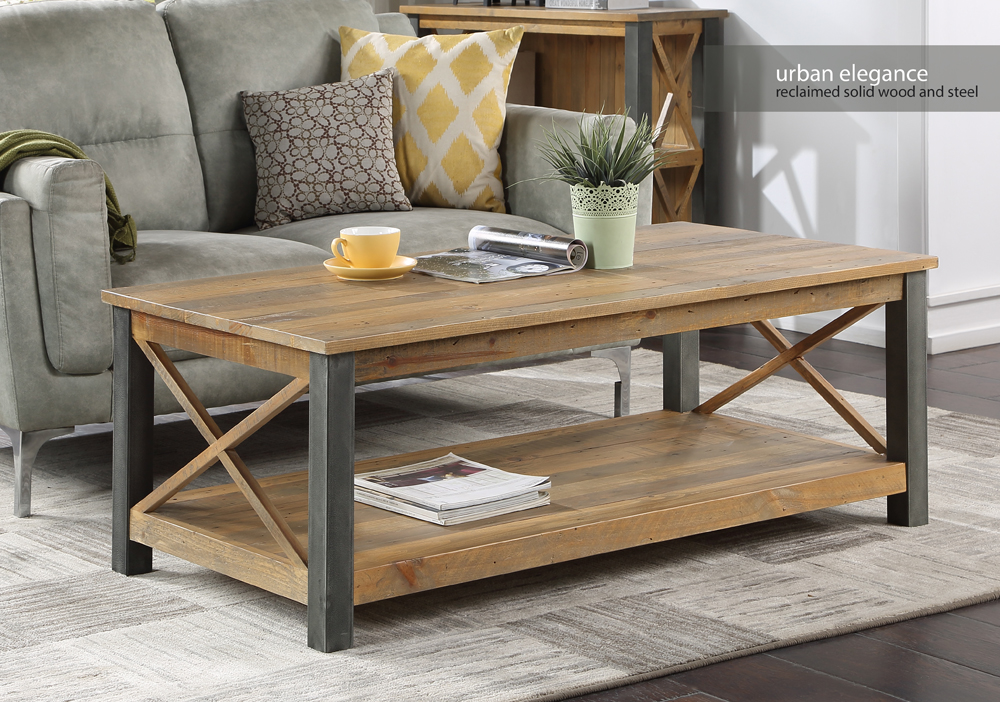baumhaus urban elegance reclaimed extra large coffee table vpr08c