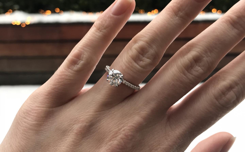 Verlobungsring Rosegold Zirkonia Silber 925 Hochwertig Vergoldet
