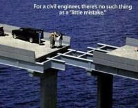 Brückenbau der sich in der Mitte nicht trifft